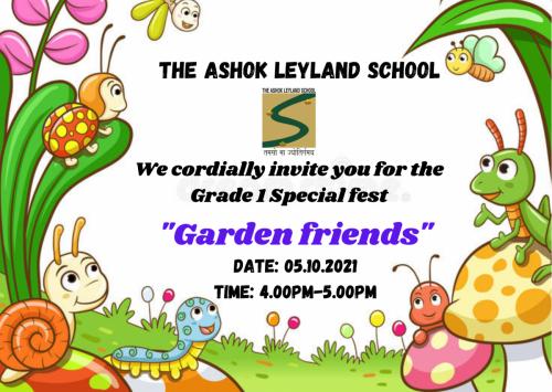 Grade 1 Special fest invitation 2021-22