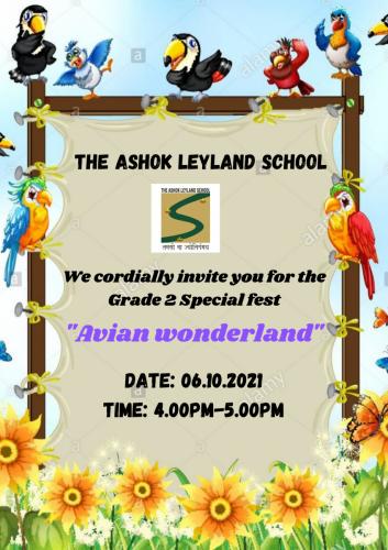 Grade 2 Special fest invitation 2021-22